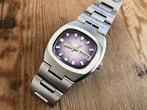 【送料無料】腕時計 ウォッチ ビンテージアラームウォッチused delkar vintage watch reloj montre automatic 25 jewels 36 mm