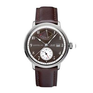 【送料無料】腕時計 ウォッチ ツェッペリンヒンデンブルクブラウンzeppelin lz129 hindenburg automatik, 70605, gangreserve, marrn