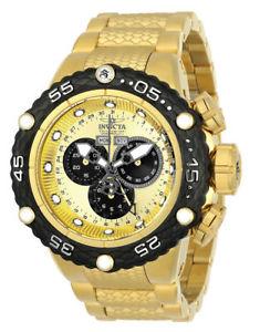 【送料無料】腕時計 ウォッチ ゴールデントーンアラームステンレス21676 invicta 512mm hombres subaqua noma vi tono dorado reloj acero
