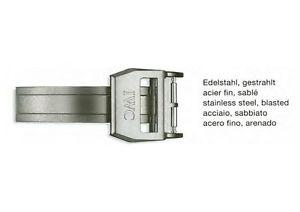 【送料無料】腕時計 ウォッチ サテンステンレスiwc faltschliee 18 mm de ancho de acero inoxidable satinado