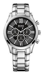 【送料無料】腕時計 ウォッチ ヒューゴボスステンレスクロノアンバサダーラウンドアラームhugo boss 1513196 ambassador round reloj hombre de acero inoxidable chrono nuevo