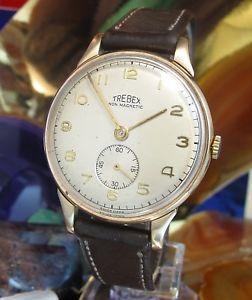 【送料無料】腕時計 ウォッチ スイスビンテージワークサービスメッキtrebex 9 k oro hecho en suiza reloj vintage servicio de trabajo de dos aos de garanta