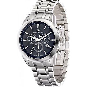 【送料無料】腕時計 ウォッチ オロロジィリップウォッチクロノグラフウォッチスイスネロorologio philip watch seahorse r8273996002 cronografo acciaio watch swiss nero