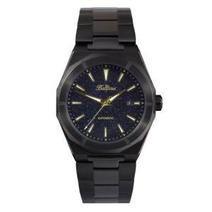 【送料無料】腕時計 ウォッチ クロックベルトbalticus hombres reloj automtico polvo negro pvd haba fecha wr 200 m con correa extra