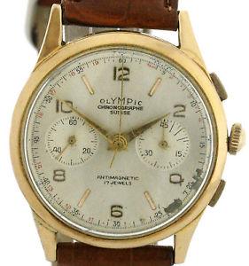 【送料無料】腕時計 ウォッチ オリンピックビンテージゴールドolympic seores vintage chronograh 750 oro, rarezas kal landeron 51 37,5mm
