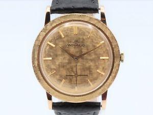 【送料無料】腕時計 ウォッチ ビンテージゴールドmovado vintage manual winding gold