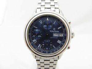 腕時計 ウォッチ ワイラークロノグラフボックスペーパーwyler vetta cronografo automatico valjoux 7750 uomo 37mm revisionato box amp;papers