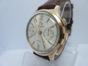 【送料無料】腕時計 ウォッチ クロノビンテージウォッチlanco chrono manual winding gold plated vintage watch cal landeron 248