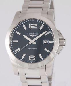 【送料無料】腕時計 ウォッチ クォーツlongines conquest quartz steel 41mm l36594586