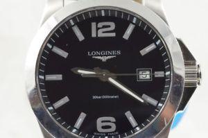 ウォッチ papeles 【送料無料】腕時計 l36594 reloj 41mm acero アラームクオーツスチールペーパートップlongines quartz seores top estado conquest