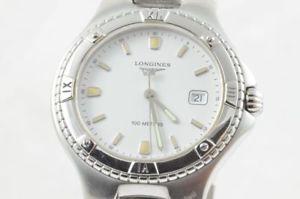 品質満点! 【送料無料】腕時計 ウォッチ スチールブレスレットアラームlongines conquest reloj para hombre l36124 con acero pulsera cuarzo hermosa, 知育英語教材の【ちゃおーね】 9a00f937