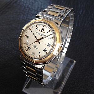 【送料無料】腕時計 ウォッチ ボーメメルシエリビエラアラームktゴールドスチールスイストップbaume amp; mercier riviera reloj hombre date acero 18 kt 750 gold eta 255111 swiss top