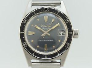 manual steel diver vintage クストースチールビンテージダイバーduward winding aquastar duward 【送料無料】腕時計 cousteau from 1345 ウォッチ