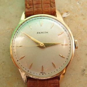 【送料無料】腕時計 ウォッチ アラームクロックマンゴールドreloj zenith, reloj hombre 35 mm, oro 18k 750er reloj de pulsera vintage