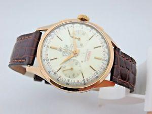 【送料無料】腕時計 ウォッチ ウォーカークロノグラフローズゴールドwalker cronografo oro rosa 18kt anni 50 manuale 37,5 mm landeron 248 revisionato