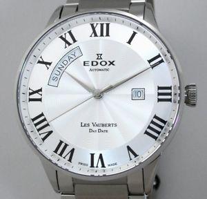 【送料無料】腕時計 ウォッチ スイスレサファイアガラスアラームマニュアルedox swiss made les vauberts day date automatik zafiro vidrio reloj hombre ref 83011