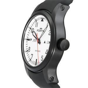 腕時計 ウォッチ フォルティスナイトブラックラバーストラップマニュアルfortis f43 nocturno automtico negro hombre reloj con correa de goma
