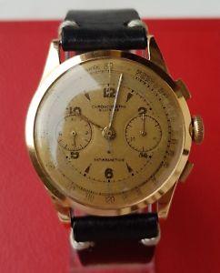 【送料無料】腕時計 ウォッチ ビンテージピンクゴールドテレメータクロノrare vintage cronographe suisse oro rosa orologio telemetre anni 50 mm 38 crono