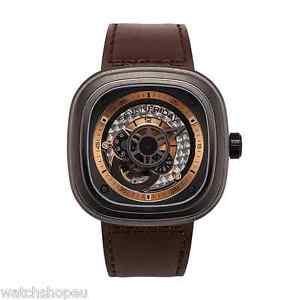 【送料無料】腕時計 ウォッチ シリーズクロックブラウンnuevo sevenfriday p201 serie p reloj automtico marrn 2 aos de garanta