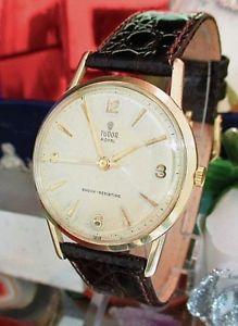 【送料無料】腕時計 ウォッチ チューダーロイヤルゴールドヴィンテージアラーム9k resistente a los golpes tudor royal oro vintage reloj circ 1960 un ao de garanta