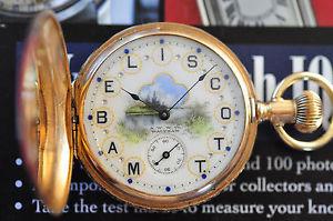 【送料無料】腕時計 ウォッチ ビンテージソリッドゴールドウォルサムサービスvintage antiguo 19 siglo waltham 14k oro macizo reloj de bolsillo servicio corre