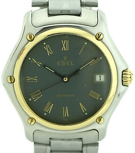 【送料無料】腕時計 ウォッチ アラームebel 1911 reloj hombre automatic con fecha de acerooro ref 1080916 38mm
