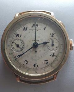 【送料無料】腕時計 ウォッチ クロノグラフクロノメータープッシャーハーンraro crongrafo grande dcada de 1930 agir extra chronometre mono empujador landeron hahn