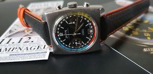 【送料無料】腕時計 ウォッチ ファンキービンテージドルフィンラリーレーシングクロノグラフvintage funky edox delfin rally valjoux 7734 racing chronograph