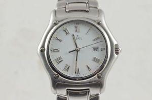 【送料無料】腕時計 ウォッチ スチールステンレスクロックナイツebel 1911 caballeros reloj aceroacero 987902 36mm bonito estado quartz