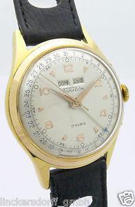 腕時計 ウォッチ フィッシャースイスナイツカレンダーfischer extra suiza doubl caballerosreloj de pulsera con calendarioaprox 40er aos