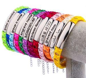 【送料無料】ブレスレット アクセサリ― ステンレスプレートファブリックブレスレットid fabric bracelet with stainless steel plate incl engraving on request 12 colours summer
