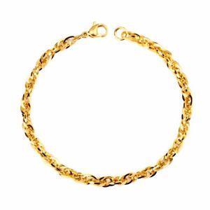 【送料無料】ブレスレット アクセサリ― シンプルブレスレットブレスレットas fr32625 simple bracelet chaine en or pour charm bracelets acier inoxydable h