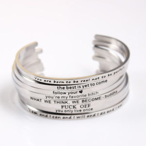 【送料無料】ブレスレット アクセサリ― as fr50285 bijoux personnaliser inspiree en acier inoxydable 316 en metal unise