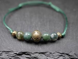 【送料無料】ブレスレット アクセサリ― ガラスビーズボールブロンズブレスレットbracelet with glass beads and ball pendantgreen bronze
