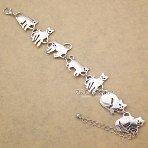 【送料無料】ブレスレット アクセサリ― バステトペットチェーンリンクブレスレットas fr33418 bastet chaton cat pet charm chain link en alliage de zinc bracelets