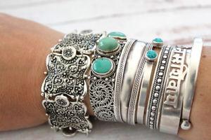 【送料無料】ブレスレット アクセサリ― ビンテージブレスレットダルジャンレas fr37396 bohemain vintage bracelets dargent en metal pour les femmes alliage