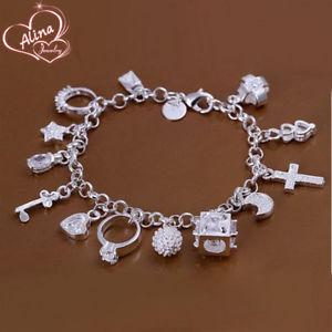 【送料無料】ブレスレット アクセサリ― プラークブレスレットデシャルムレチャイas fr38105 plaque bracelets de charme bijoux pour les femmes 13 pendentifs chai