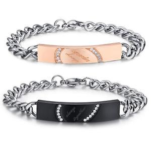 【送料無料】ブレスレット アクセサリ― デヘルツパズルチェーンリンクブレスレットas de38112 romantische halb herz puzzle edelstahl zirkonia chain link bracelets