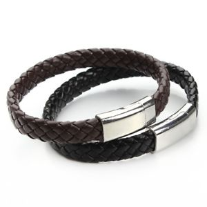 【送料無料】ブレスレット アクセサリ― デシュワルツァーsm de34056 handgemachte schwarzer brown echte fur trendige manner