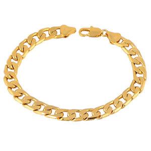 【送料無料】ブレスレット アクセサリ― デチェーンsm de33535 gelb gold plated farbe posh curb chain trendy