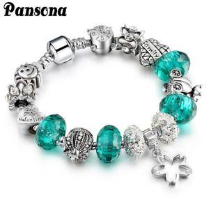 【送料無料】ブレスレット アクセサリ― ブレスレットクリスタルパールロイヤルブレースas fr37119 silver charm bracelet cristal perle royale femmes cuivre metal brace