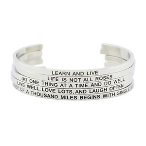 【送料無料】ブレスレット アクセサリ― ブレスレットレas fr51106 bracelet en acier inoxydable pour les femmes en metal plaque femme