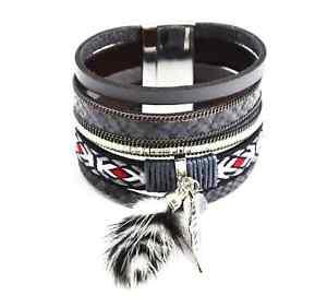 【送料無料】ブレスレット アクセサリ― カフブレスレットマルチロースケールリボンbc1072ecuff bracelet multirow scales stones ribbon ethnic and p