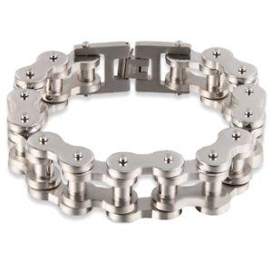 【送料無料】ブレスレット アクセサリ― グラムハーレーダビッドソンバイカー*バイクチェーンブレスレット155 gram heavy silver bike chain bracelet for harley davidson biker 22mm*9