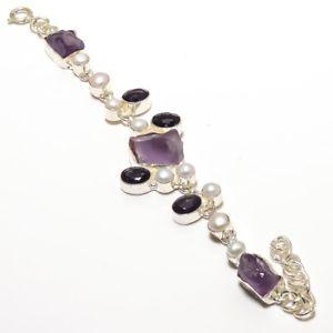 【送料無料】ブレスレット アクセサリ― アメジストパールクリスマスセールブレスレットgenuine amethyst druzy amp; pearl christmas gemstone jewelry bracelet 78