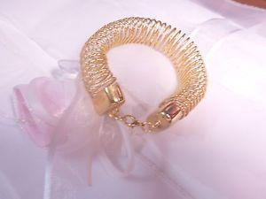 【送料無料】ブレスレット アクセサリ― ジュエリーニューbracelet gold plated hand made chunky metal spiral women fashion jewelry