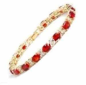 【送料無料】ブレスレット アクセサリ― kgpブレスレットcharming jewelry 14k gp red crystal bracelet