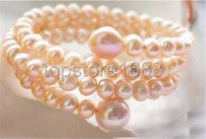 【送料無料】ブレスレット アクセサリ― ピンクブレスレットextendible 10mm round pink freshwater pearl bracelet