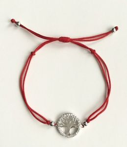【送料無料】ブレスレット アクセサリ― 925 sterlingtree of life adjustable red braceletpulsera de suerte925 sterling silver tree of life adjustable red bracelet