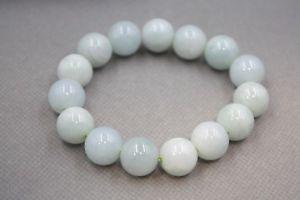【送料無料】ブレスレット アクセサリ― 13mmfine aqua jade jadeite womens men 13mm smooth beads bracelet